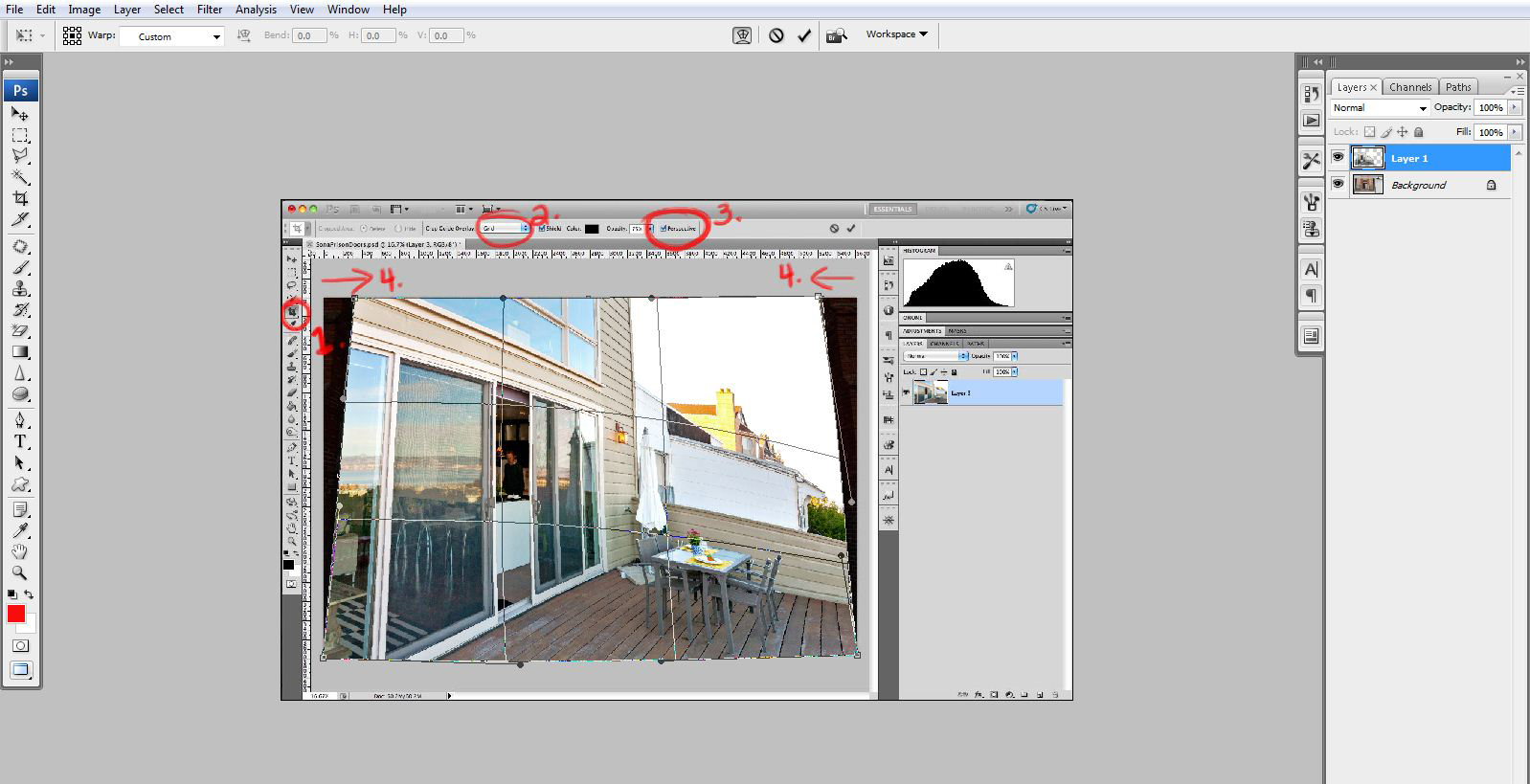 photoshop perspective correction