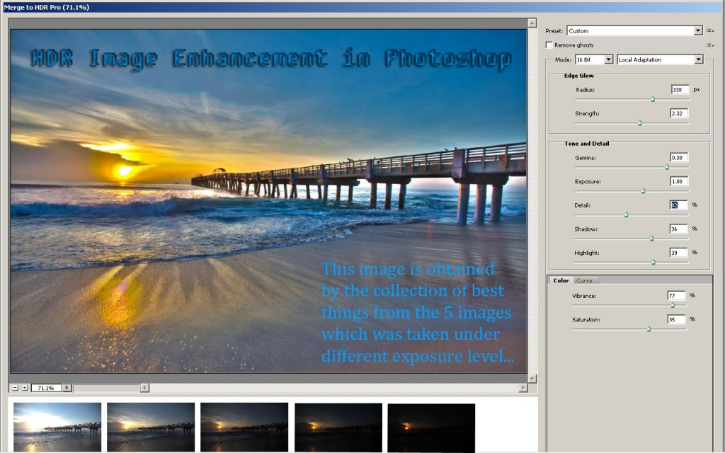 HDR Image Enhancement using Photoshop