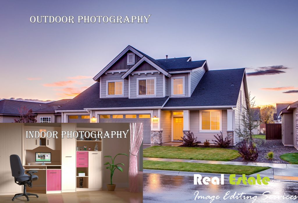 Indoor and outdoor photo editing service