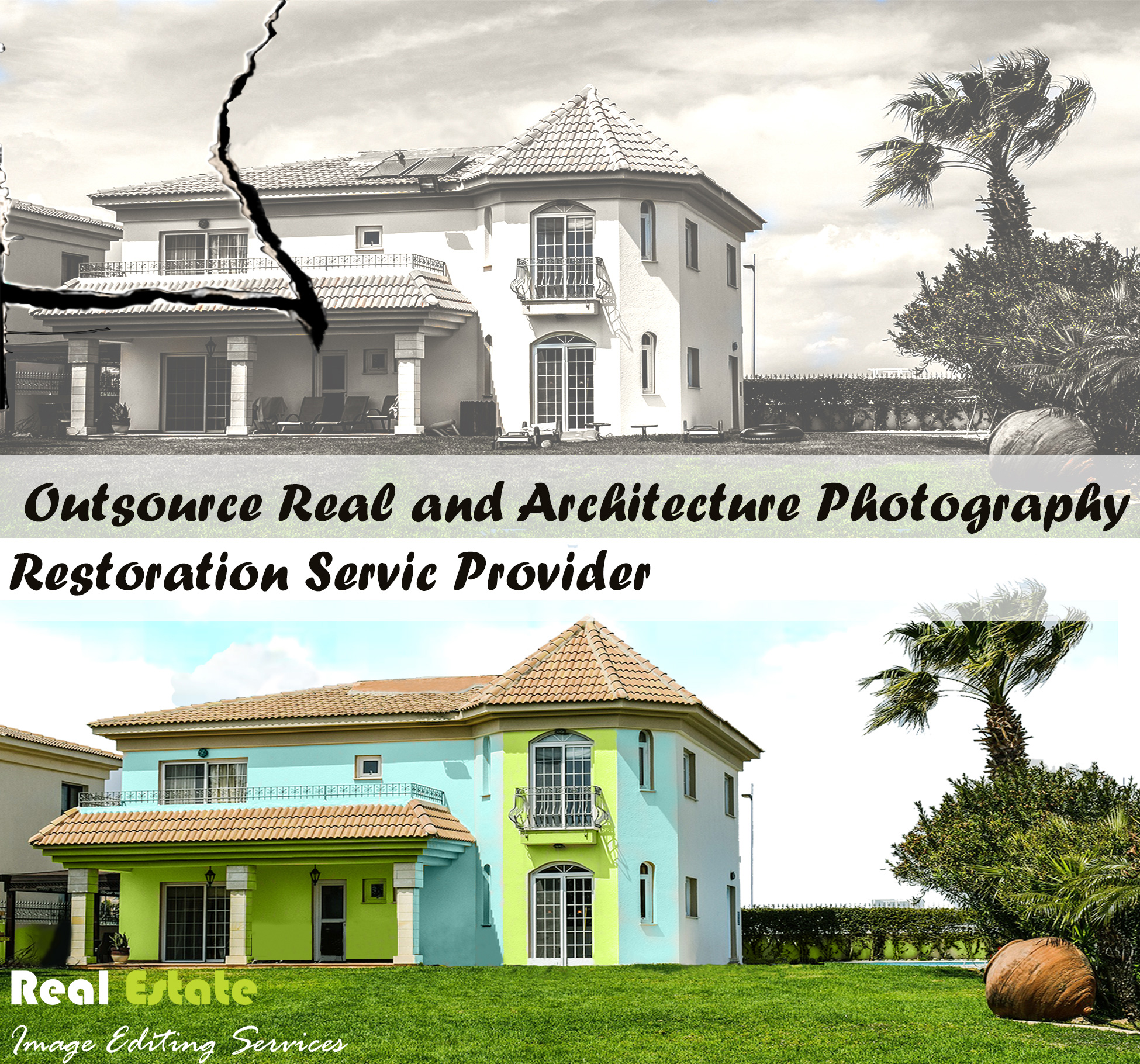 Photography Restoration Service for Real Estate and Architecture Photography