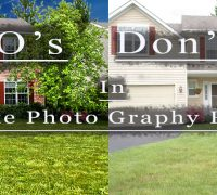 What is not allowed in Retouching Real Estate Photography