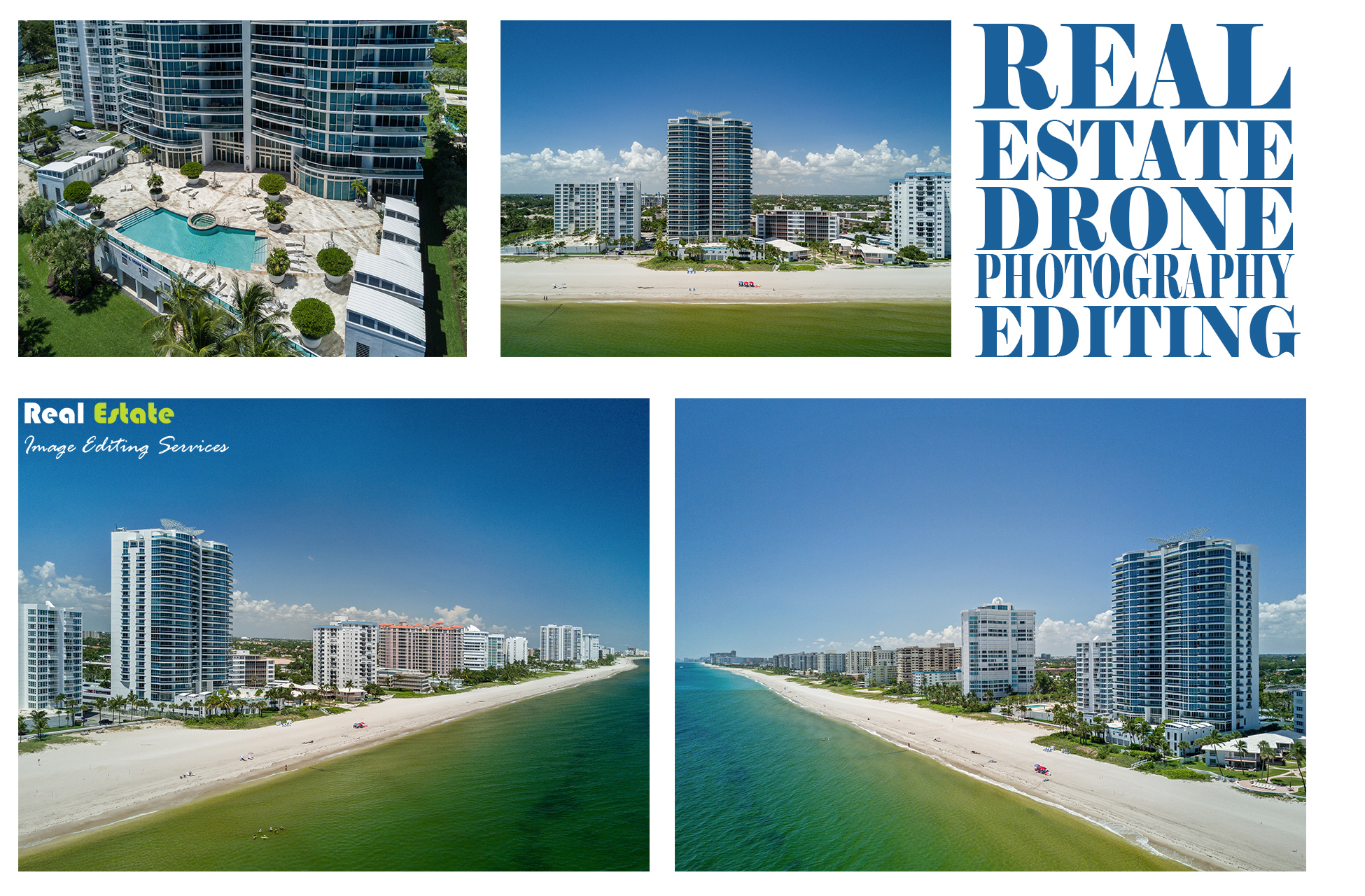 Real Estate Drone Photography Editing