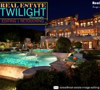 Real Estate Twilight Photo Editing Services for