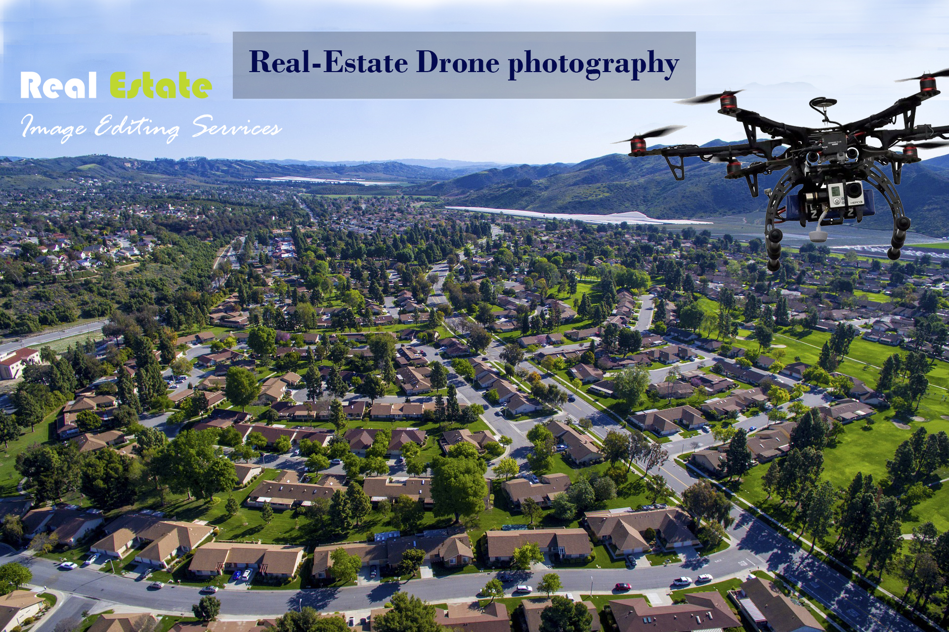 Easy way to shoot Drone Real-estate image photography
