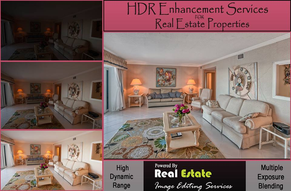 Real estate HDR photo enhancement